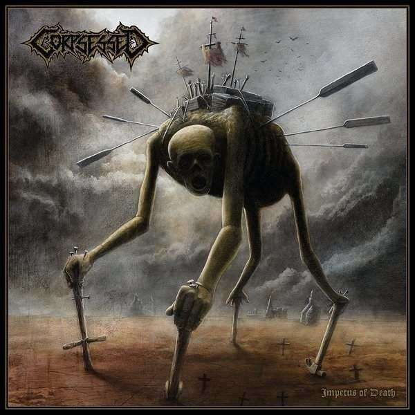 CORPSESSED Impetus of Death. Brown Vinyl