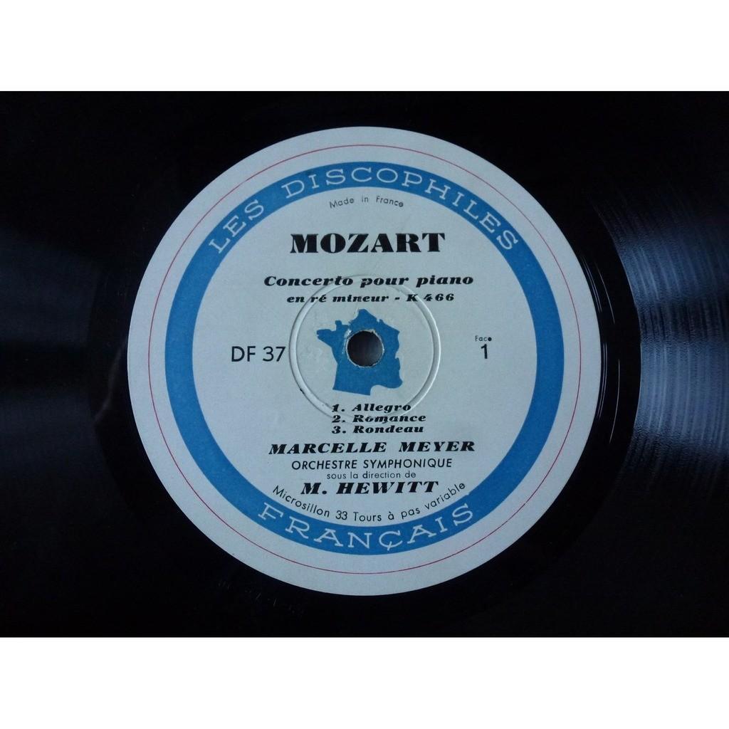 Marcelle Meyer - Orchestre Hewitt Mozart : concerto pour piano en ré mineur K. 466 - en la majeur K. 488 - ( ultra rare )