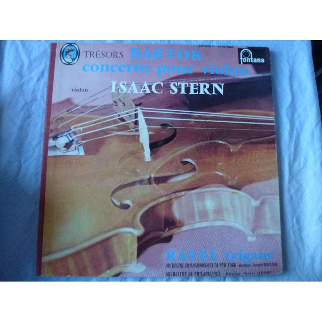 isaac stern - leonard bernstein - eugène ormandy Bartok : concerto pour violon - Ravel : tzigane - ( near mint condition )