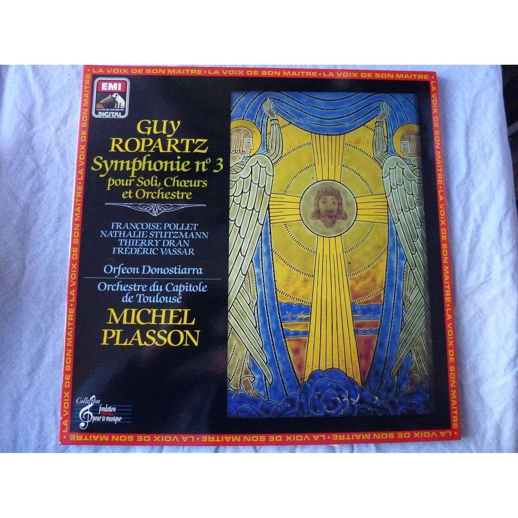 Michel Plasson / Nathalie Stutzmann Ropartz : Symphony no.3 in E major for soloists, choir and orchestra - ( stéréo digital mint )