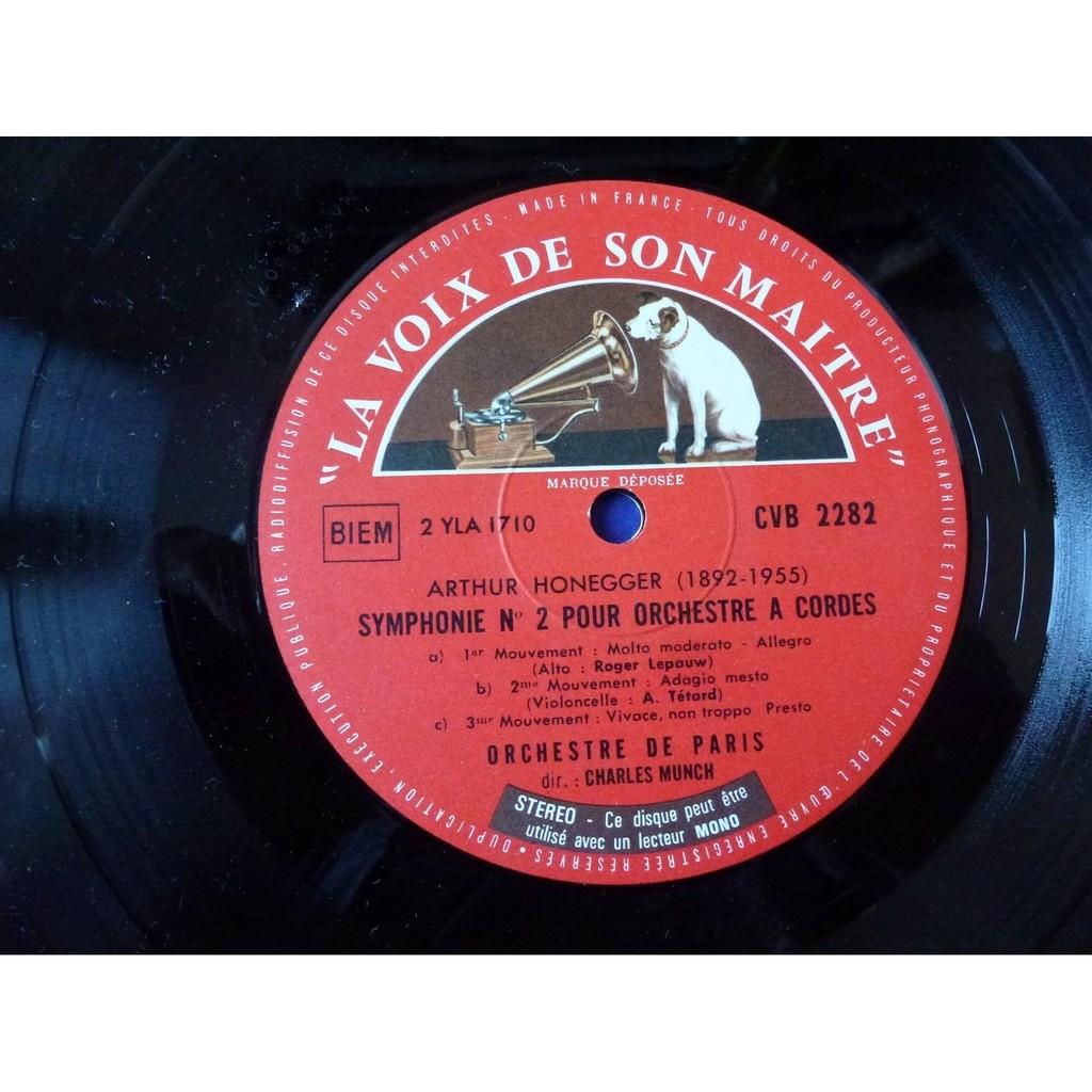 CHARLES MUNCH / NICOLE HENRIOT-SCHWEITZER Les derniers enregistrements - honegger; symphonie pour orchestre - ravel: bolero,rhapsodie,pavane,
