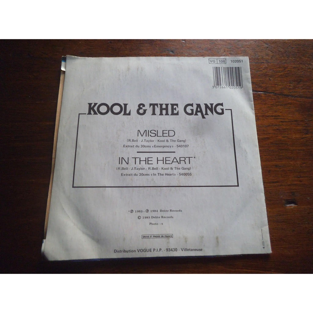 KOOL AND THE GANG MISLED / IN THE HEART