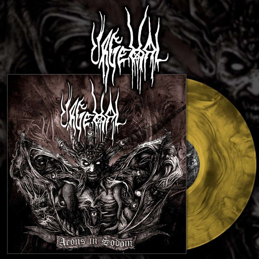 URGEHAL Aeons in Sodom. Yellow Galaxy Vinyl