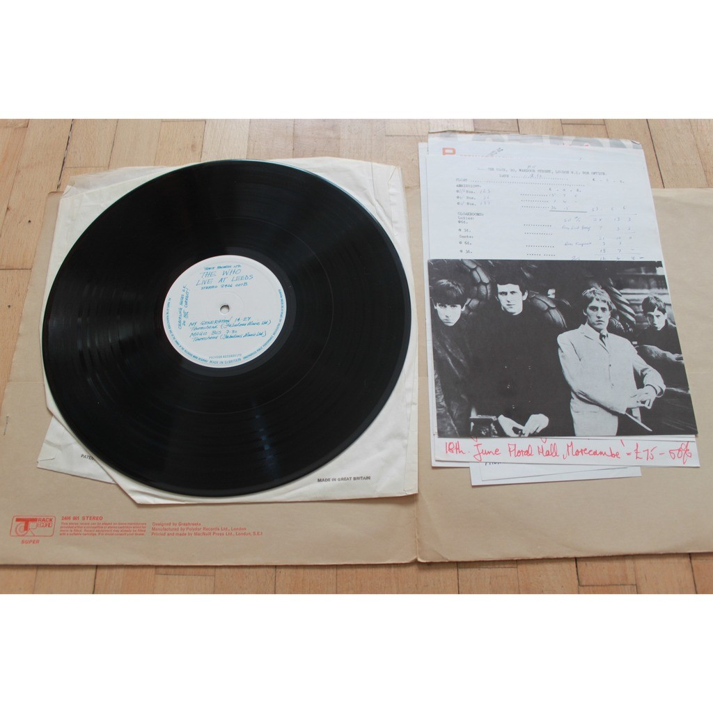 the who live at leeds (red print)