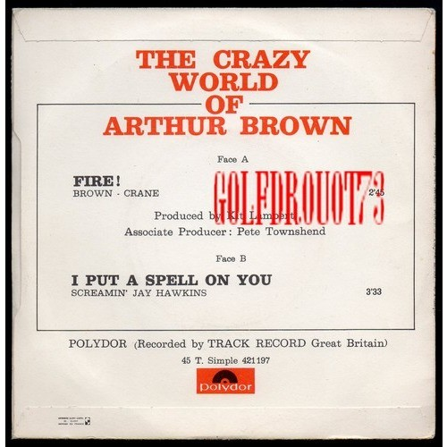 ARTHUR BROWN ( THE CRAZY WORLD OF.. ) FIRE - I PUT A SPELL ON YOU