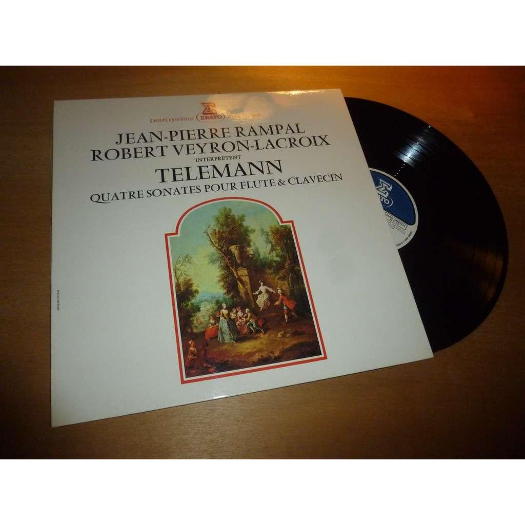 Jean-Pierre Rampal - Robert Veyron-Lacroix Telemann : 4 sonates pour flute & clavecin