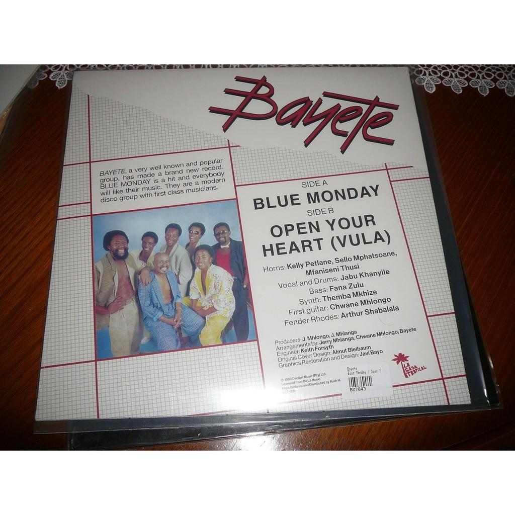 Bayete Blue Monday / Open Your Heart (Vula)