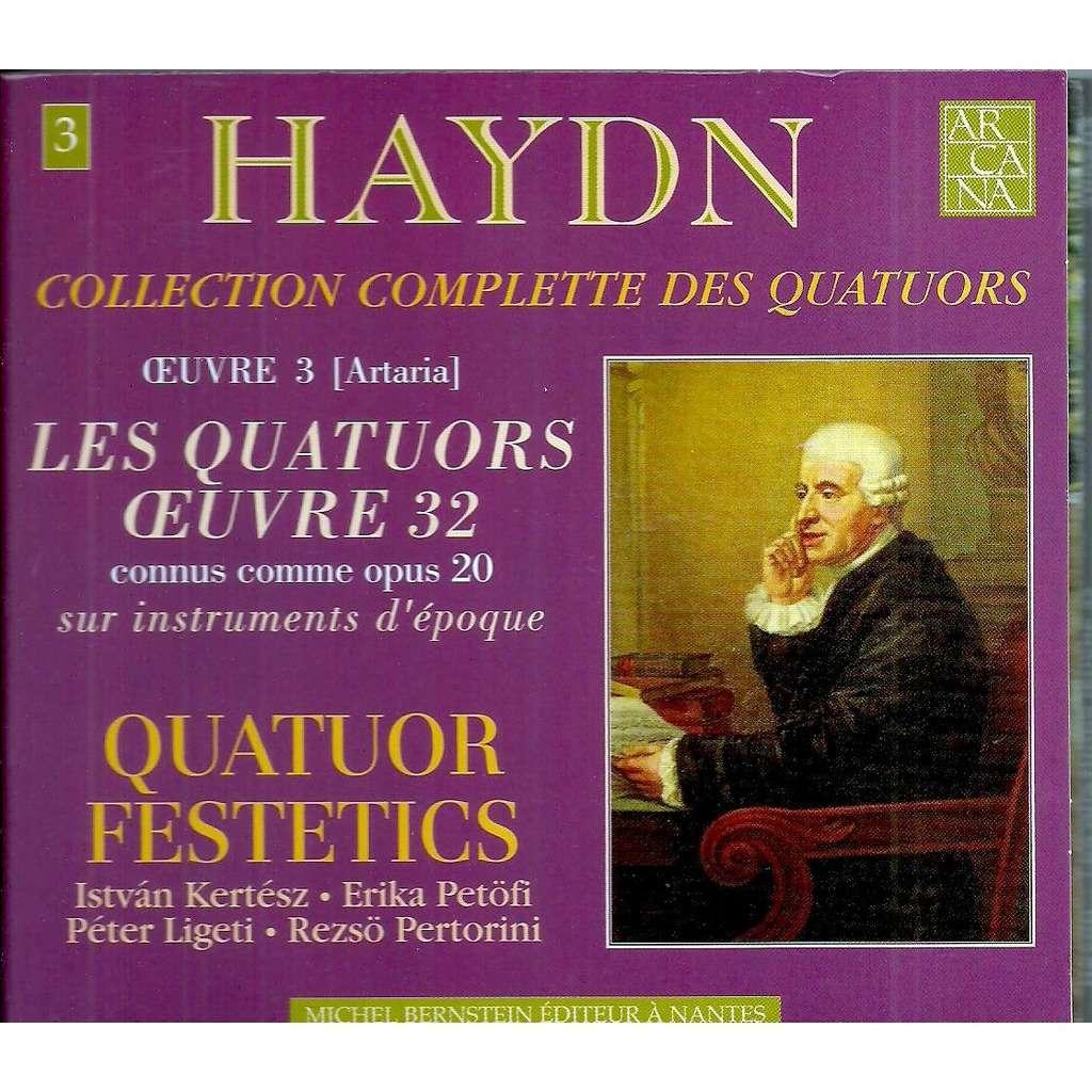 QUATUOR FESTETICS haydn: quatuors oeuvre 32 connue comme op 20