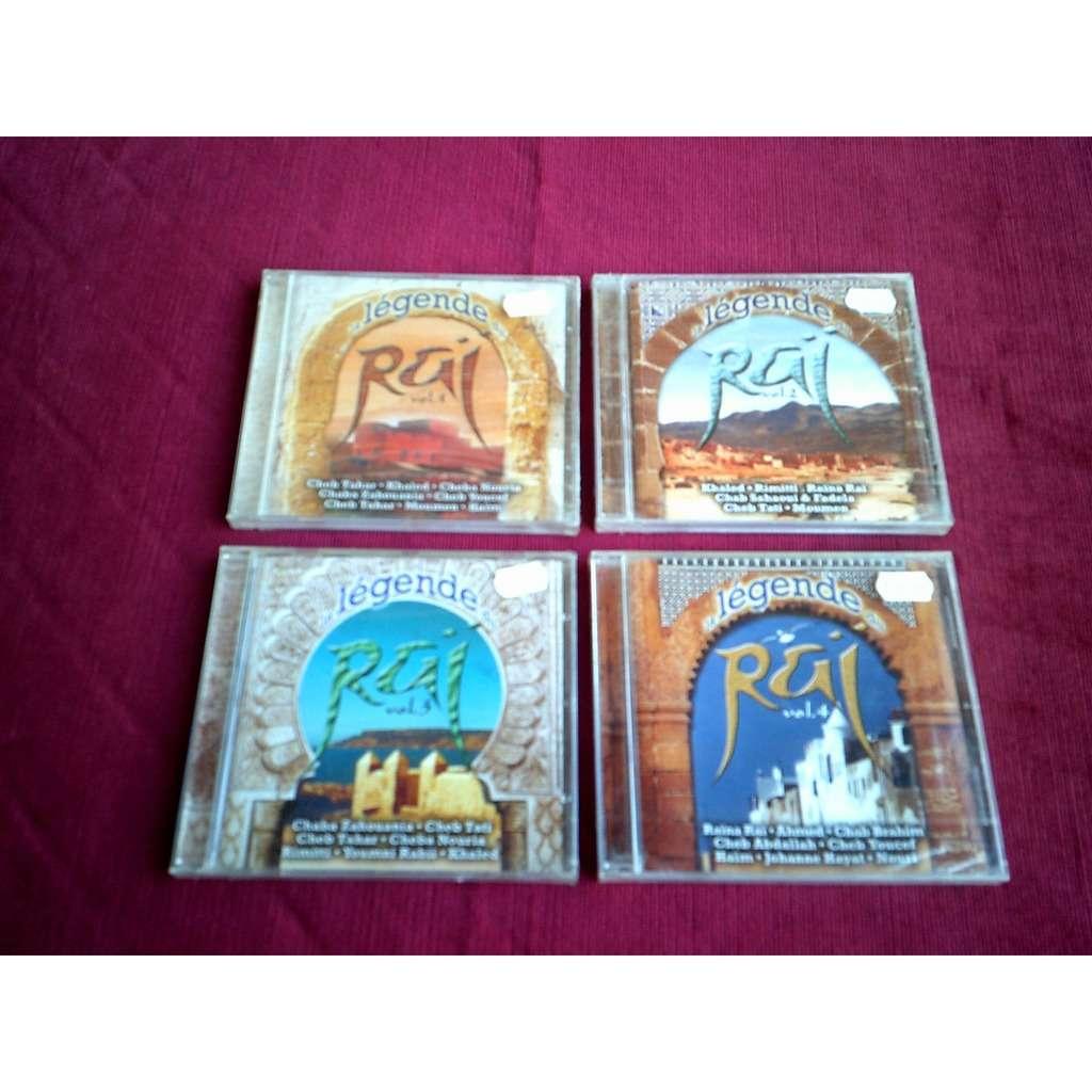 LA LEGENDE DU RAI COLLECTION DE 4 CD ALBUM DE 1 A 4