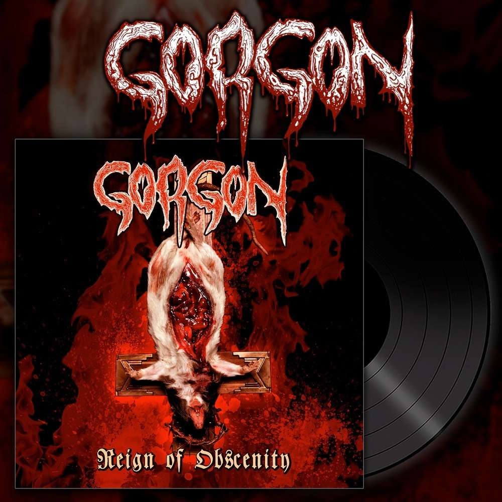GORGON Reign Of Obscenity. Black Vinyl