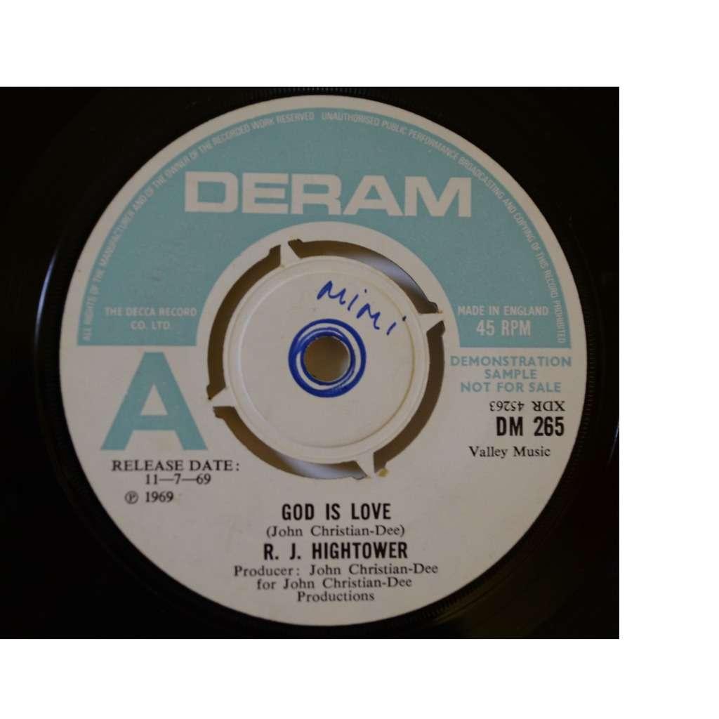R.J. HIGHTOWER god Is love / Sister Mimi
