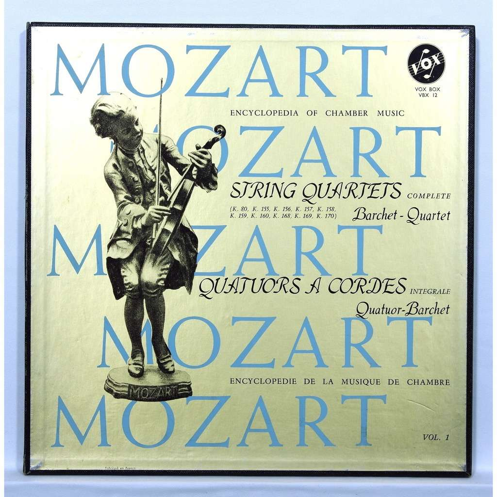 barchet quartet Mozart : String Quartets vol.1