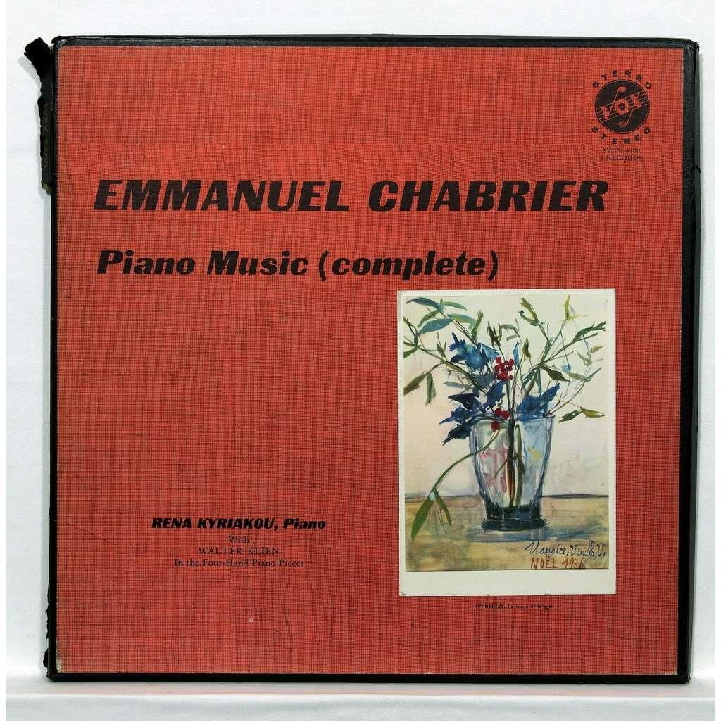 Rena Kyriakou / Walter Klien Chabrier : Complete piano music