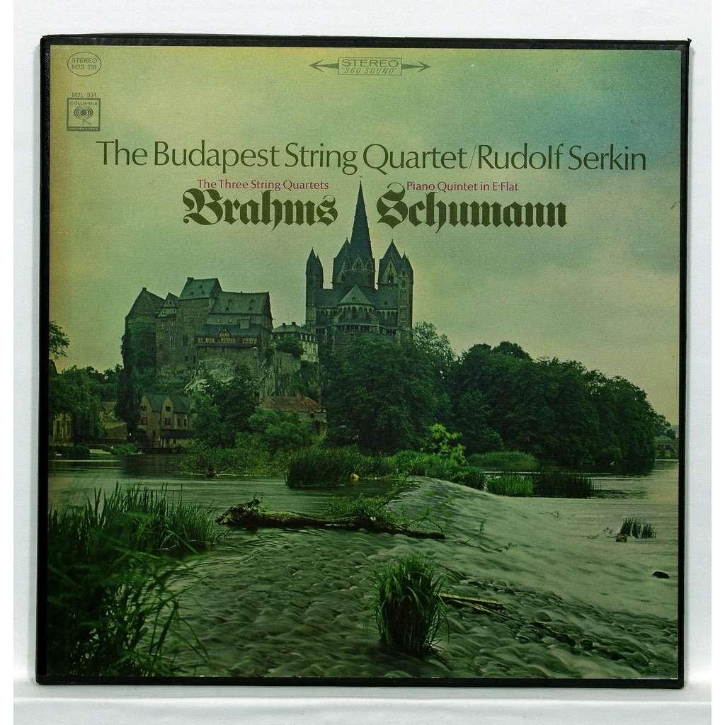 The Budapest String Quartet / Rudolf Serkin Brahms : The 3 String Quartets / Schumann : Piano Quintet
