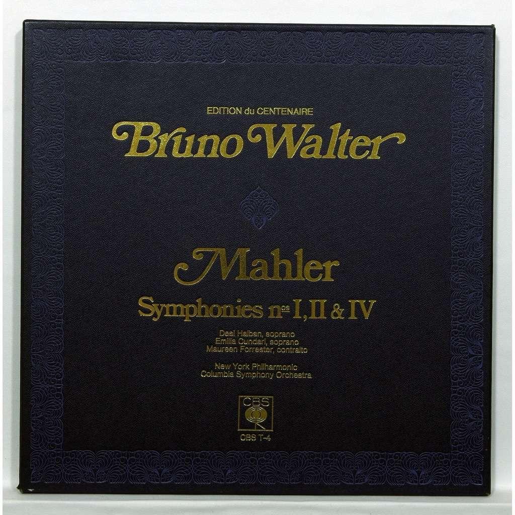 Bruno Walter Mahler : Symphonies no.1, 2 & 4