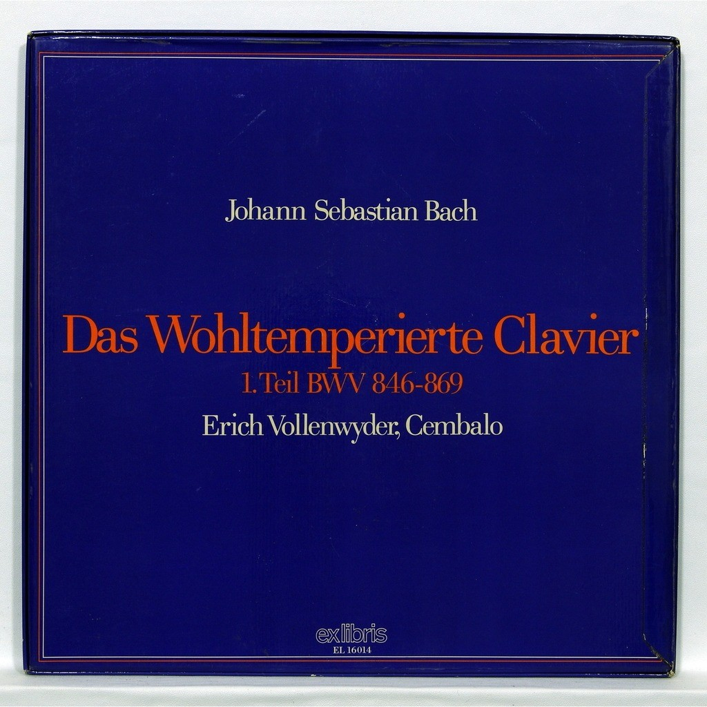 Erich Vollenwyder JS Bach : Well-Tempered Clavier – 1. Teil