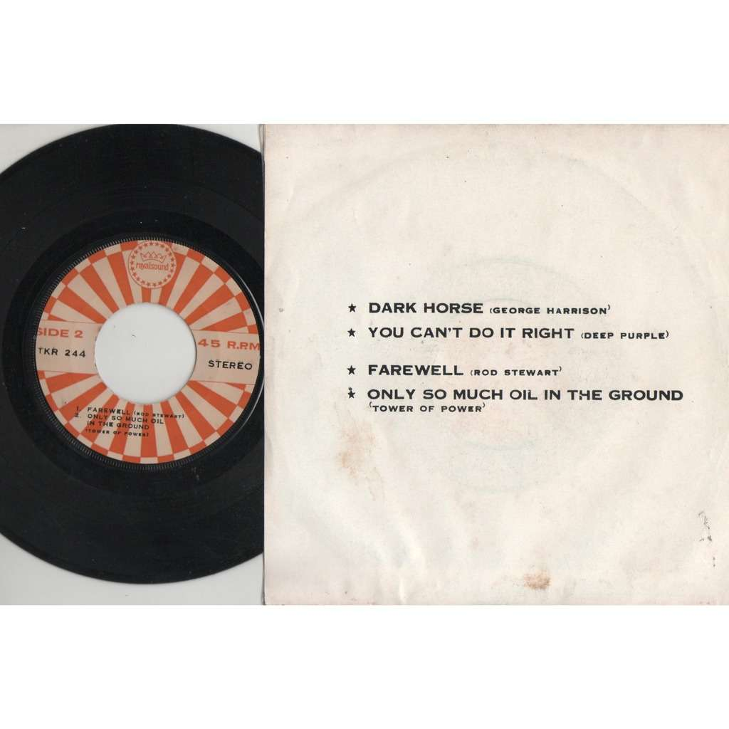 Beatles / George Harrison Dark Horse (Thailand 1974 original 4-trk 7ep sampler on Royalsound lbl unique ps)