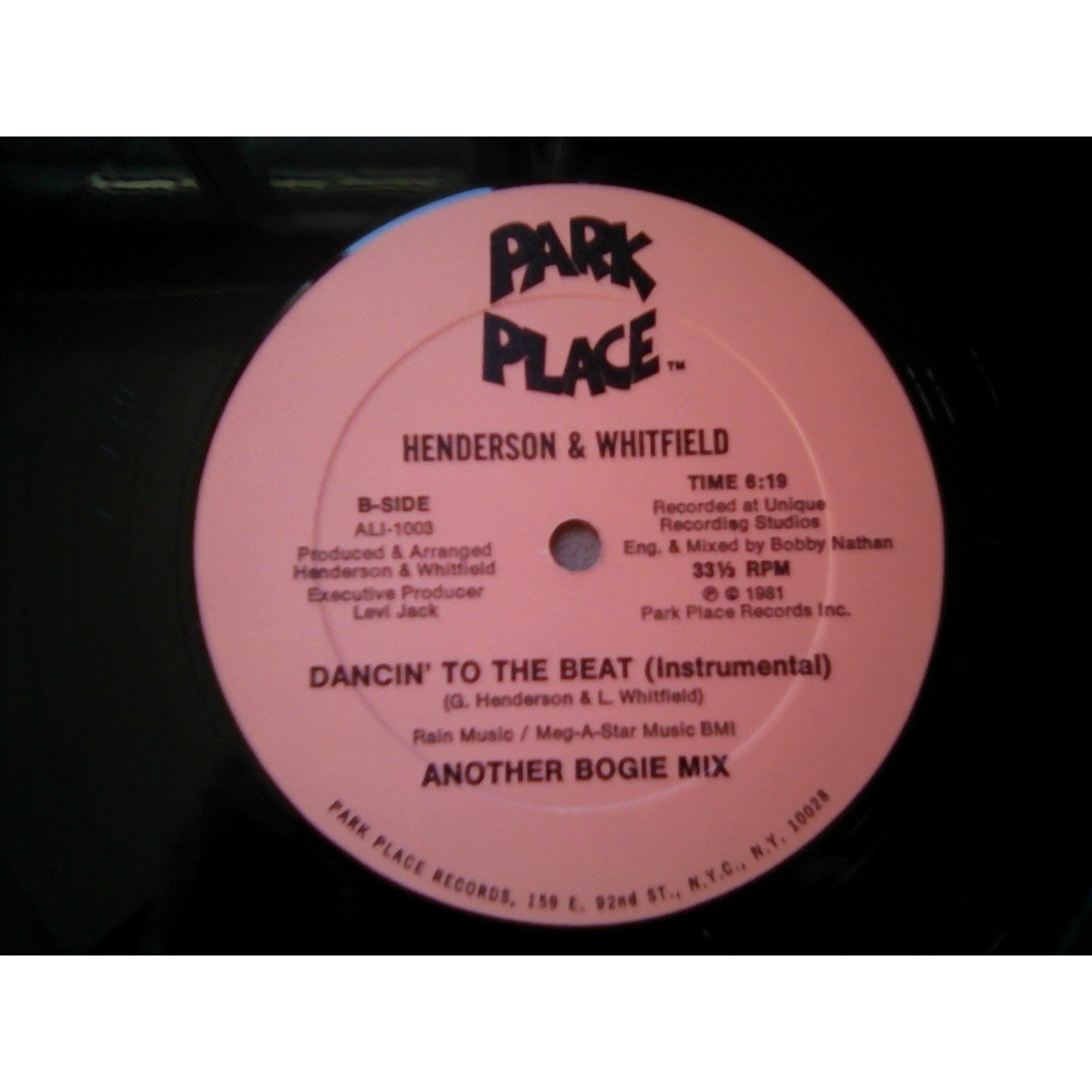 Henderson* & Whitfield* - Dancin' To The Beat (An Henderson* & Whitfield* - Dancin' To The Beat (Another Bogie Mix)