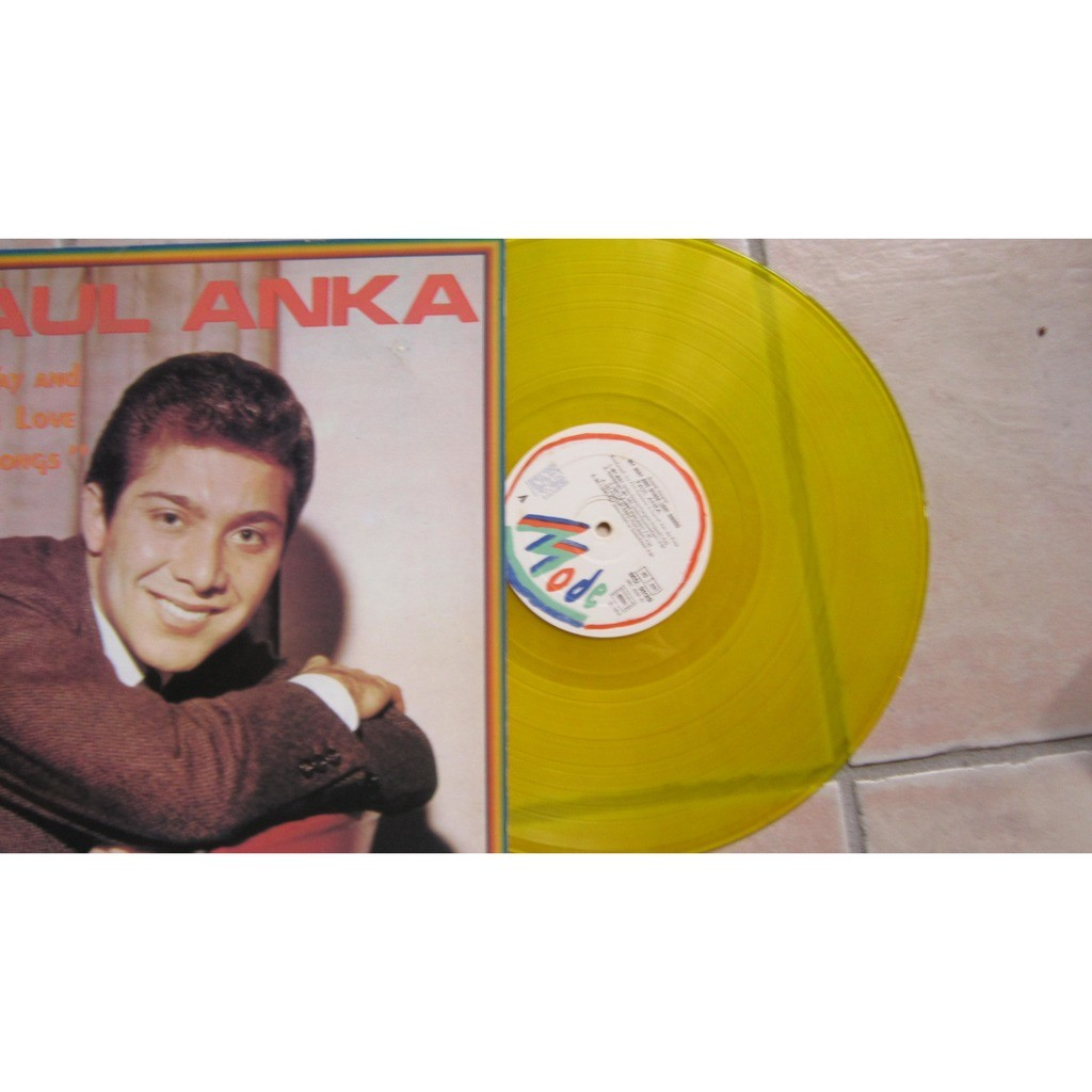 ANKA Paul Disque couleur - MY WAY AND OTHER LOVE SONGS ( Vinyl JAUNE )