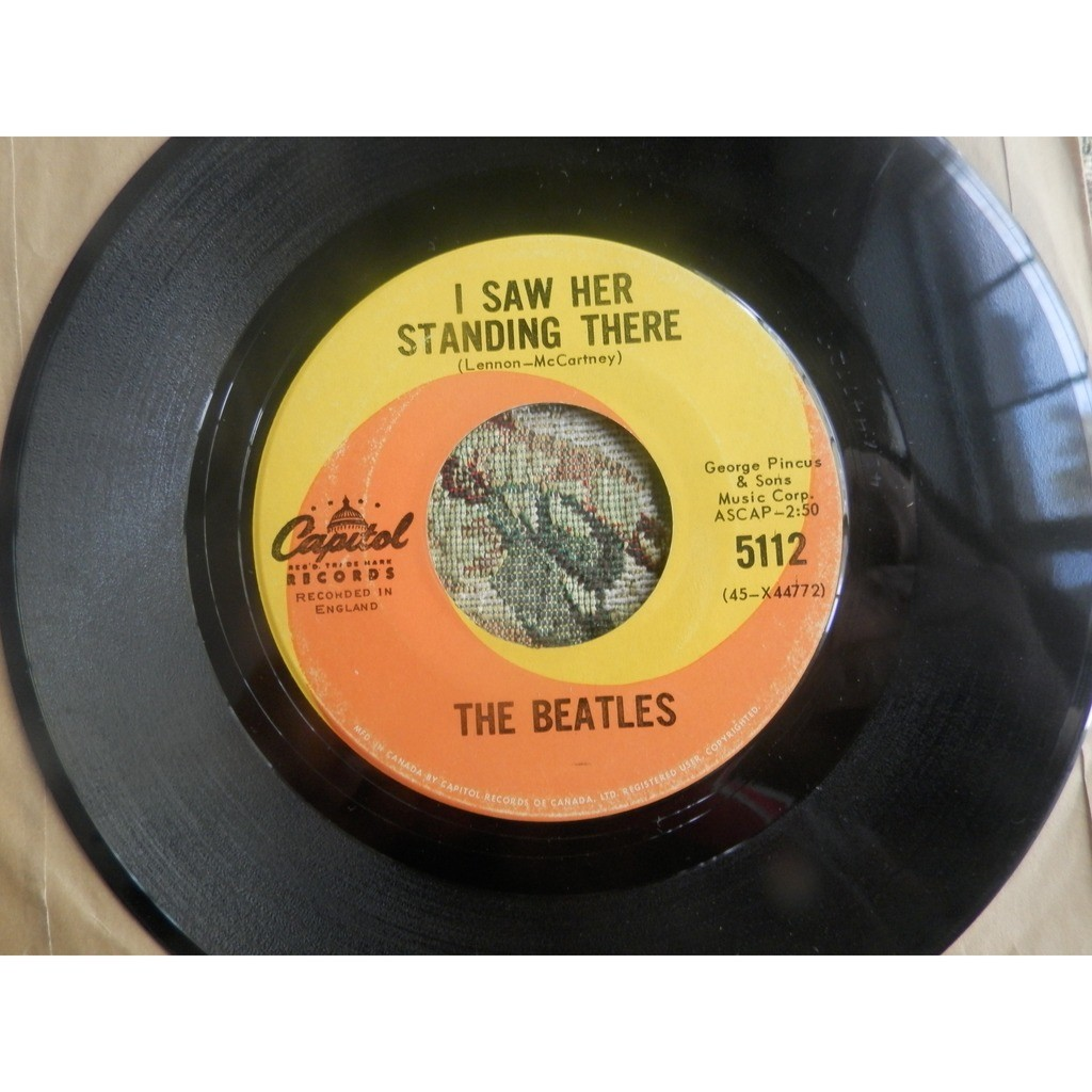 the beatles i want to hold your hand/i saw her standing there