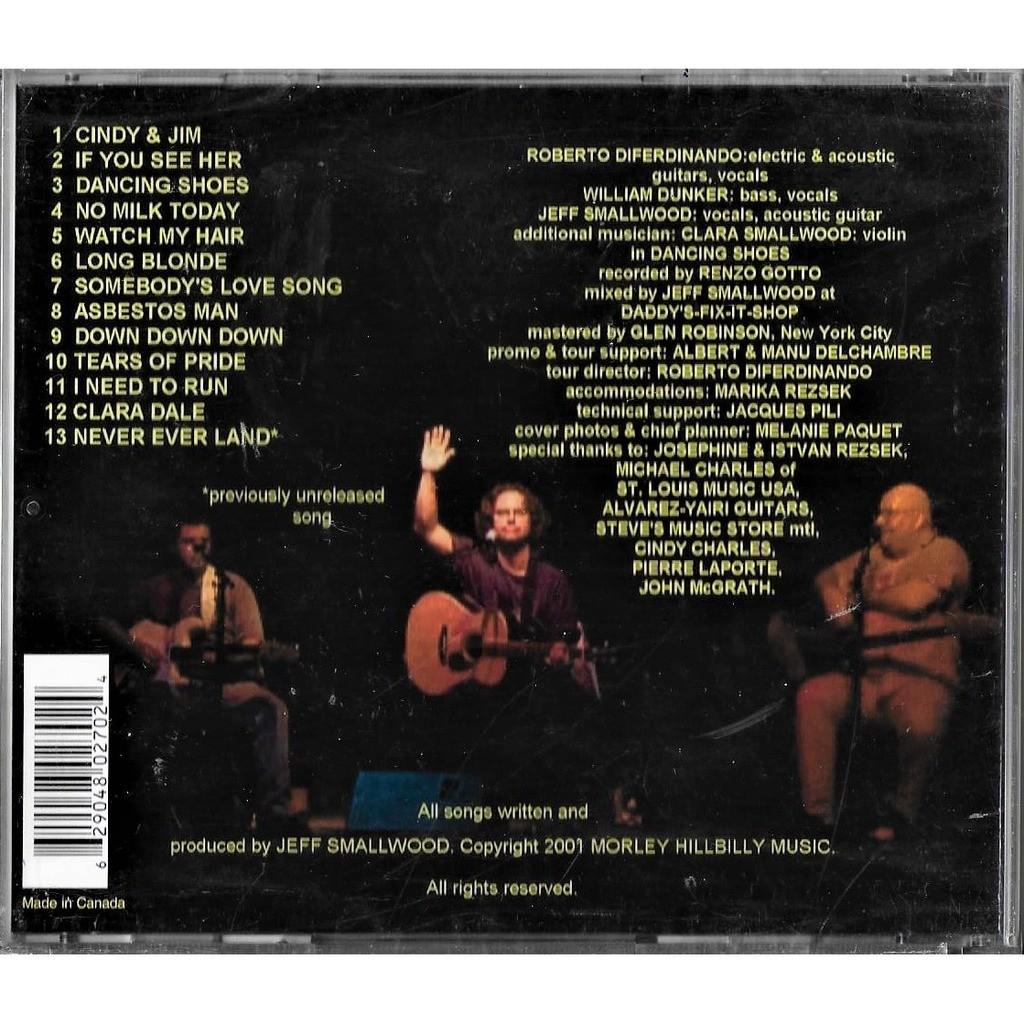 Jeff smallwood live in belgium by Jeff Smallwood (W/ William Dunker &  Diferdinando), CD with minkocitron