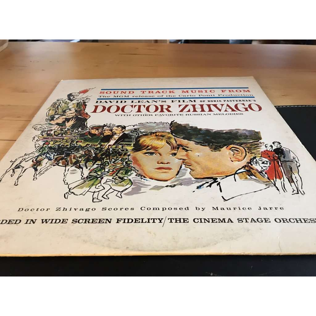 "BO FILM ""DOCTOR ZHIVAGO"" scoring music of M.JARRE À DAVID LEAN'S FILM of Boris PASTERNAK"