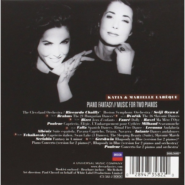 katia et marielle labeque Piano fantasy -Music for two pianos