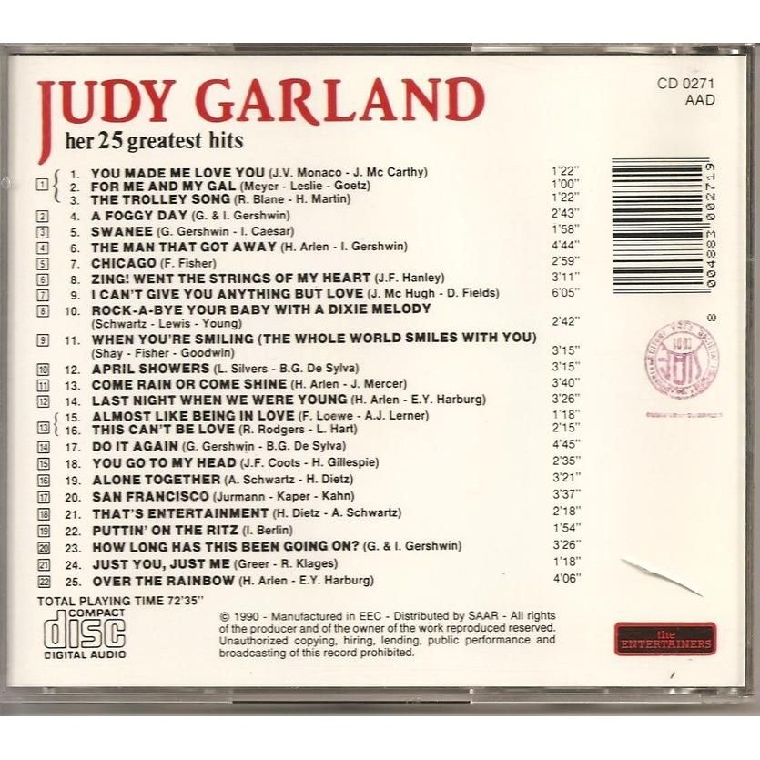 Judy Garland Her 25 Greatest Hts