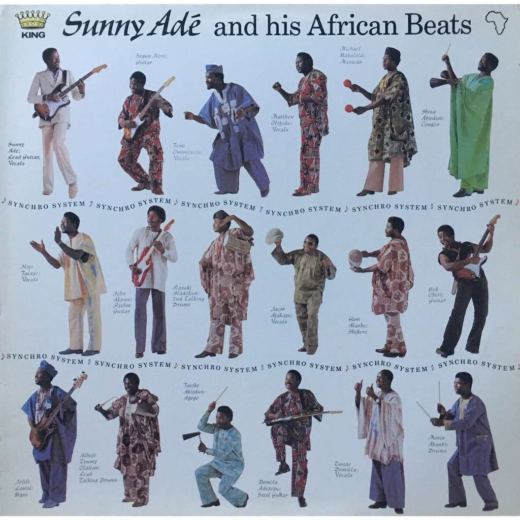 KING SUNNY ADE AND HIS AFRICAN BEATS - SYNCHRO SYS (GER. PRESSING 12 VINYL LP)