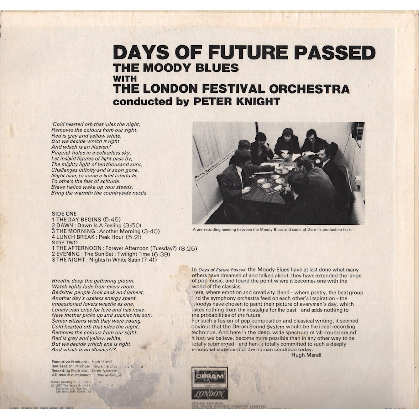 The Moody Blues With The London Festival Orchestra Days Of Future Passed