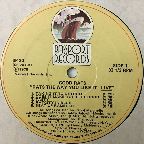 Good Rats Rats The Way You Like It - Live