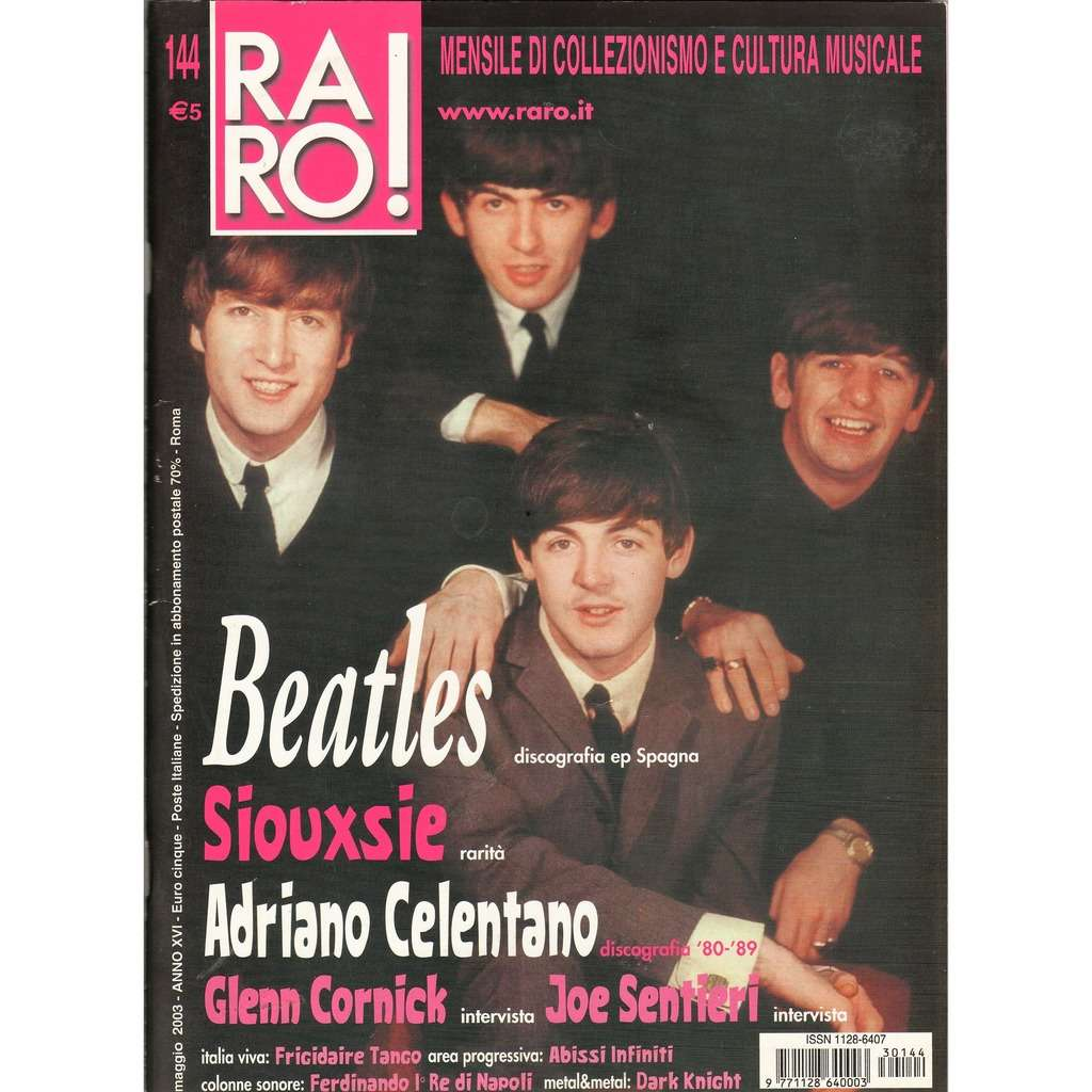 The Beatles RARO! (N.144 May 2003) (Italian 2003 Beatles front cover music collector's magazine!!)