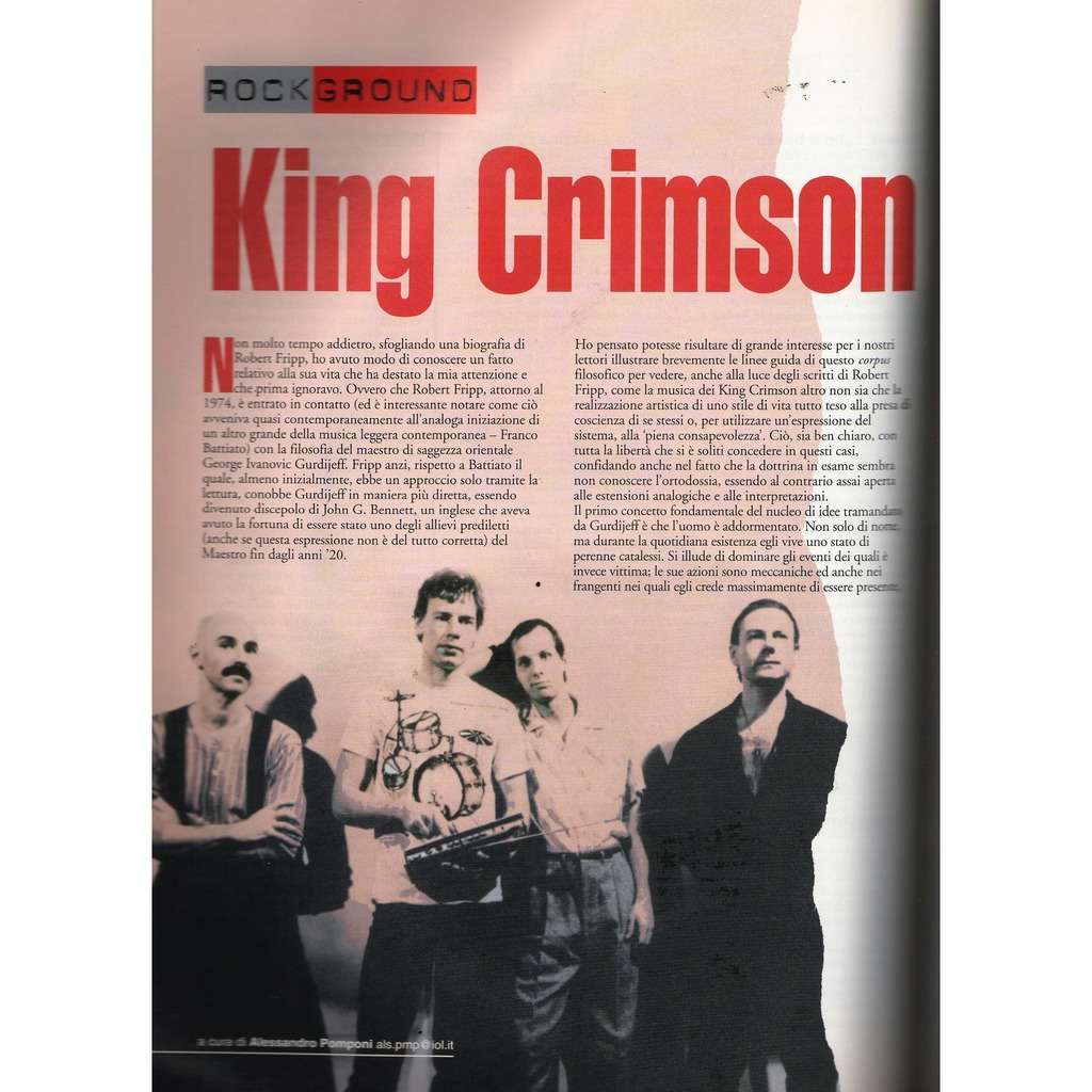 King Crimson RARO! (N.109 March 2000) (Italian 2000 music collector's magazine!!)