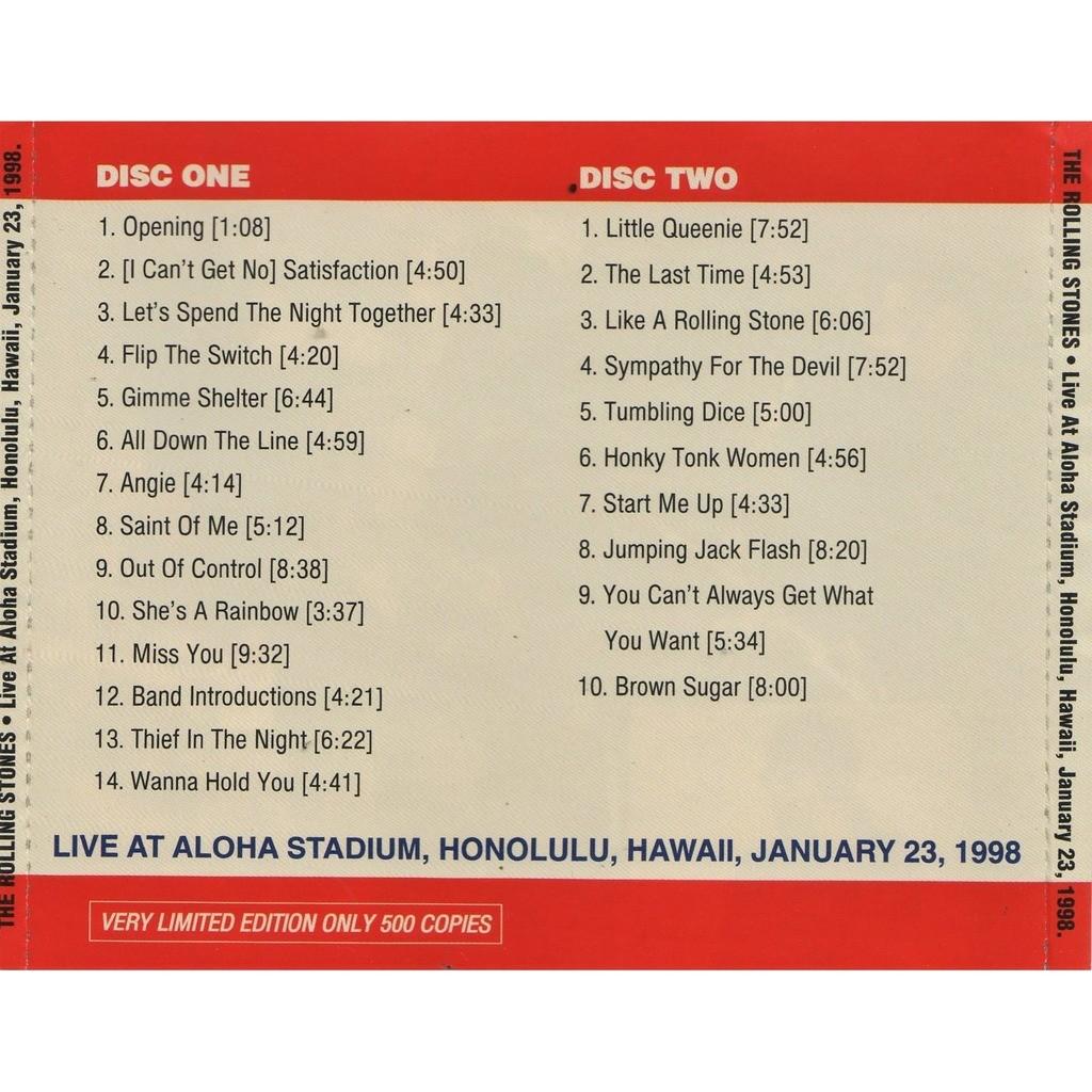 the rolling stones Live At Aloha Stadium (Honolulu Hawaii 23.01.1998)