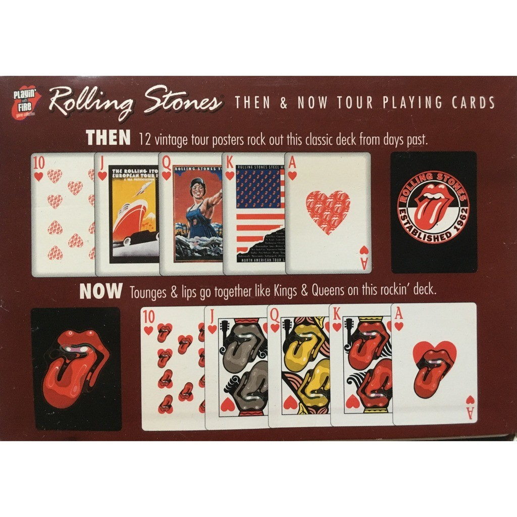 ROLLING STONES - THEN & NOW TOUR PLAYING CARDS (OFFICIAL ROLLING STONES MERCHANDISING)