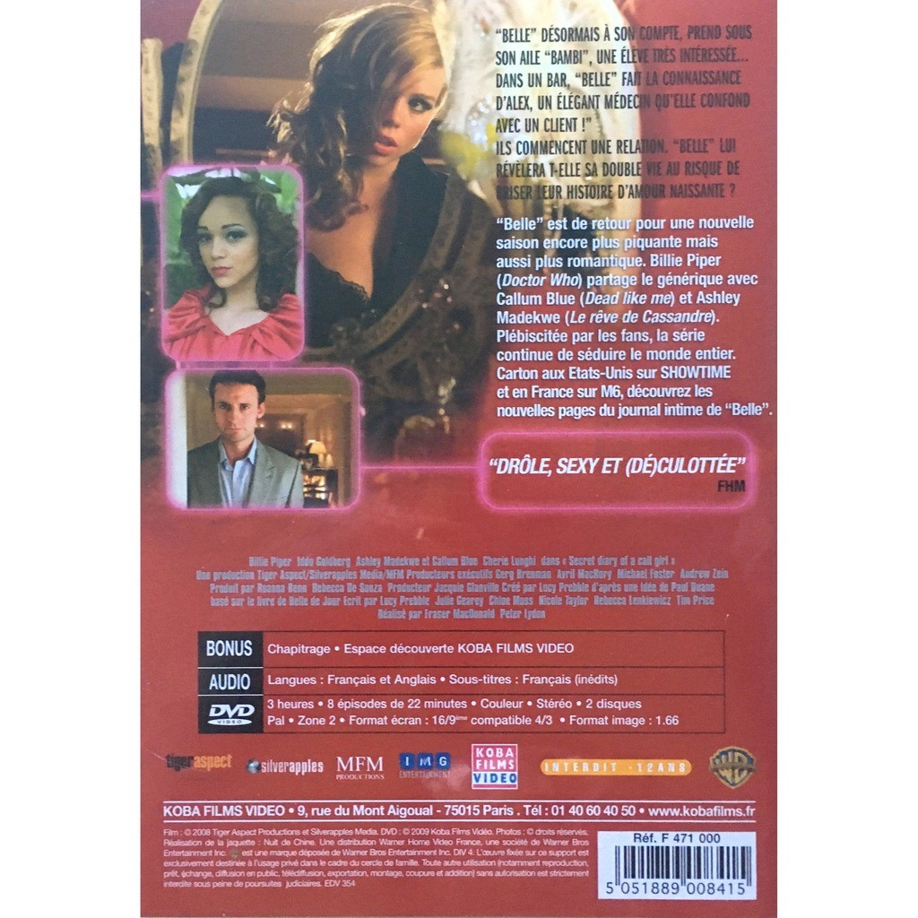 JOURNAL INTIME D'UNE CALL-GIRL - BILLIE PIPER (2 DVD's)