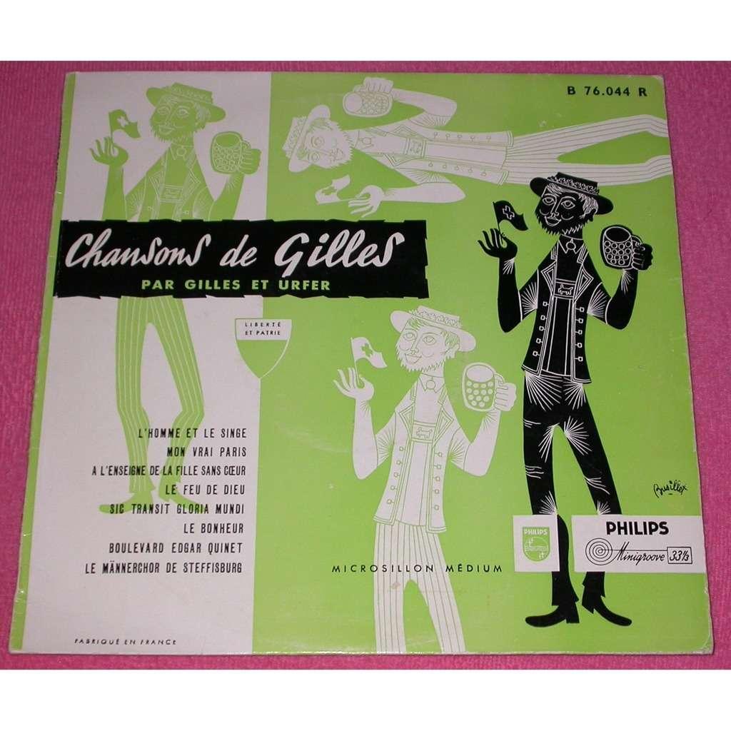 Chansons de Gilles par Giles et Urfer Chansons de Gilles par Giles et Urfer