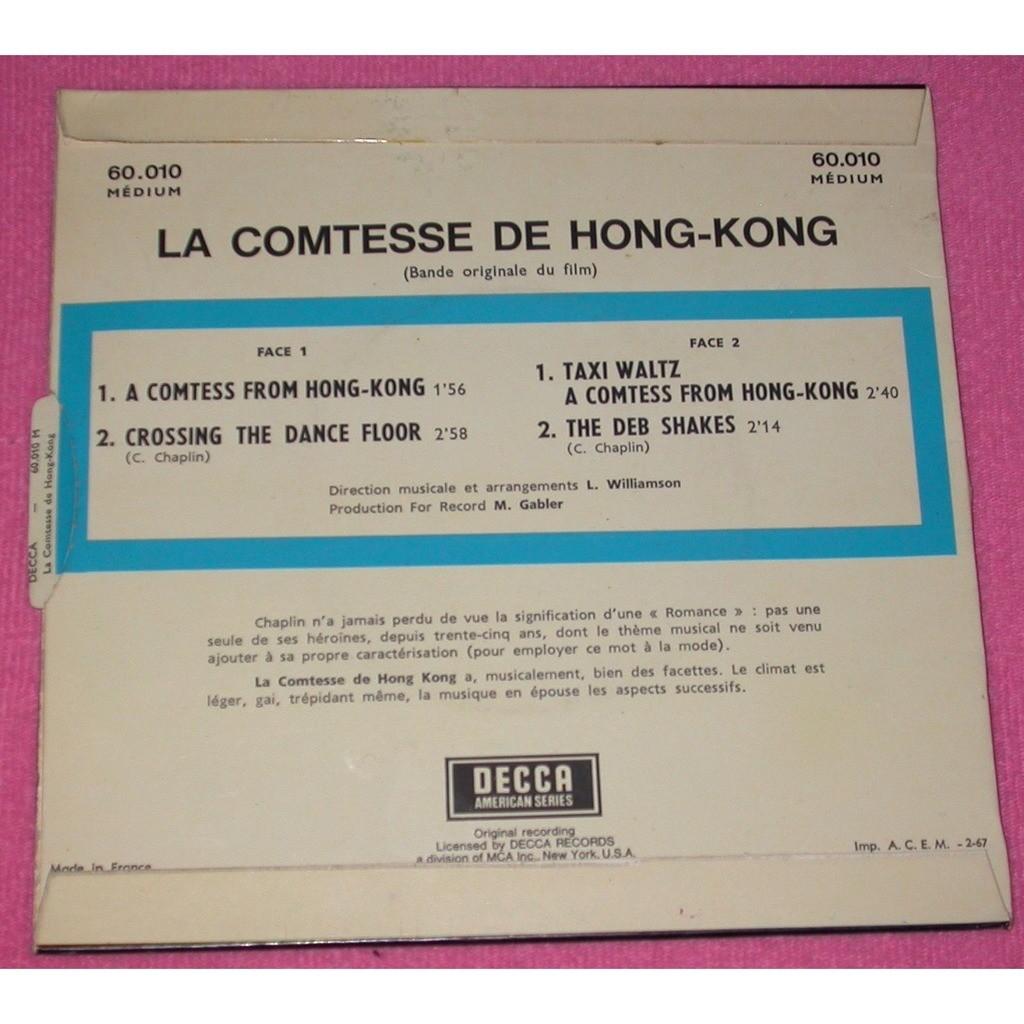 CHARLES CHAPLIN A COMTESS FROM HONG-KONG - CROSSING THE DANCE FLOOR - TAXI WALTZ + 1 . BOF LA COMTESSE DE HONG-KONG