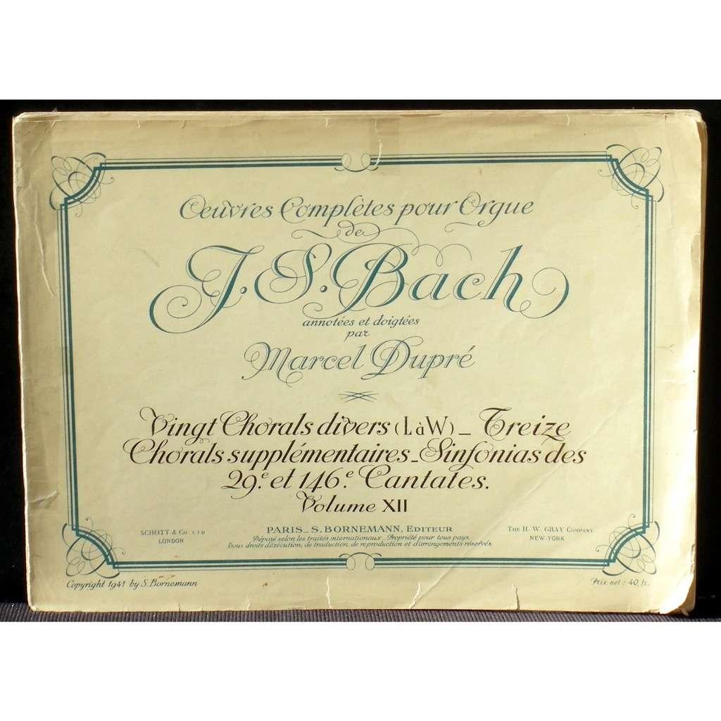 Partition / Score Bach Marcel Dupré Bornemann XII Partition / Score Bach Marcel Dupré Bornemann vol 12 20 chorals divers... VG++