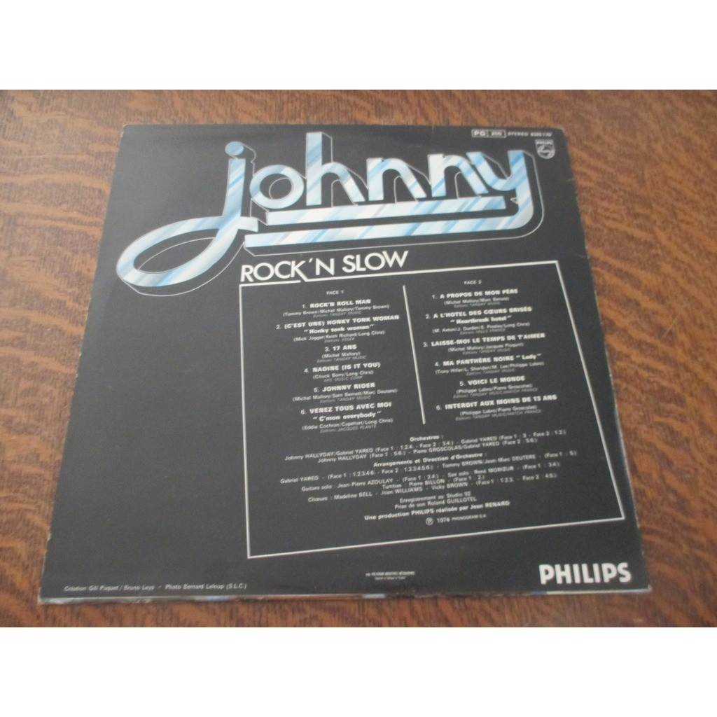 33 tours JOHNNY HALLYDAY rock'n slow 33 tours JOHNNY HALLYDAY rock'n slow