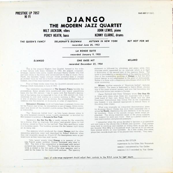 The Modern Jazz Quartet Django