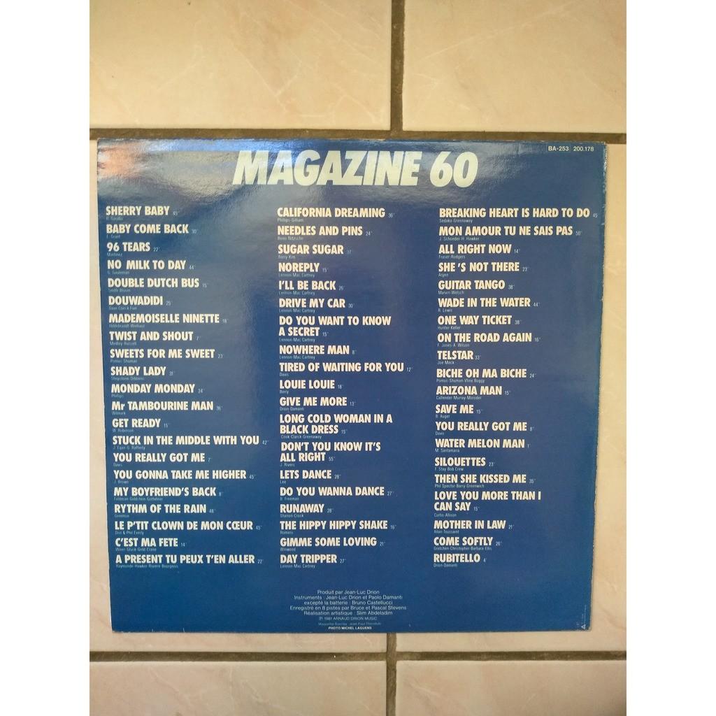 magazine 60 60 tubes des années 60