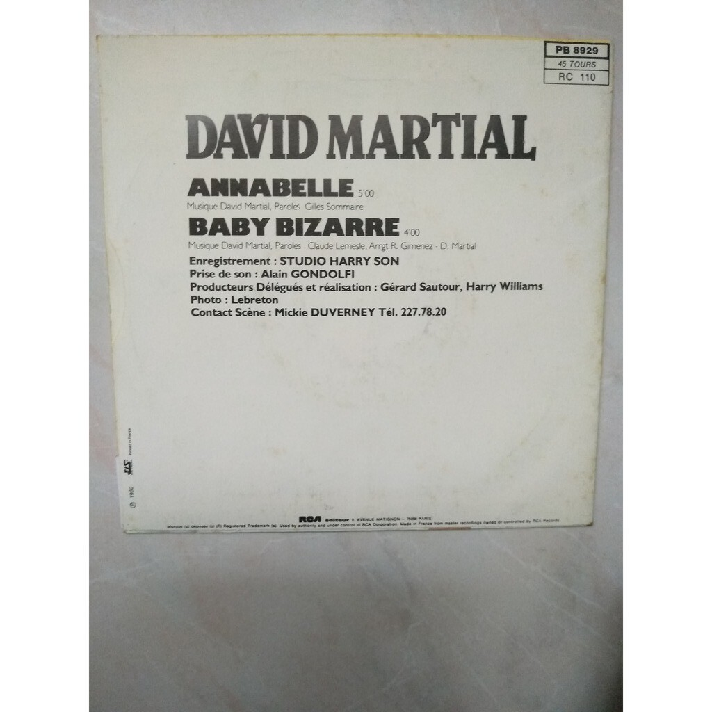david martial annabelle