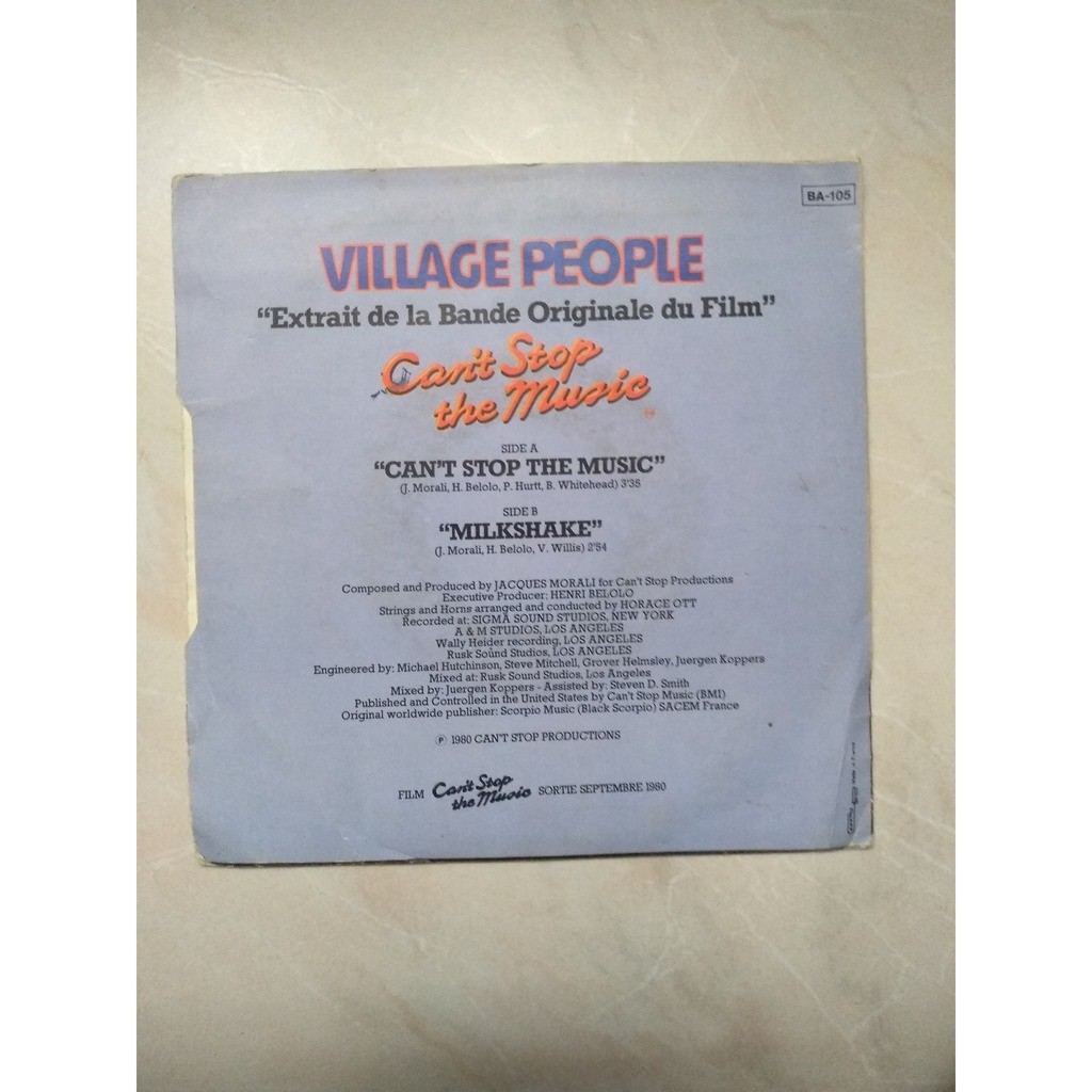 village people can't stop the music