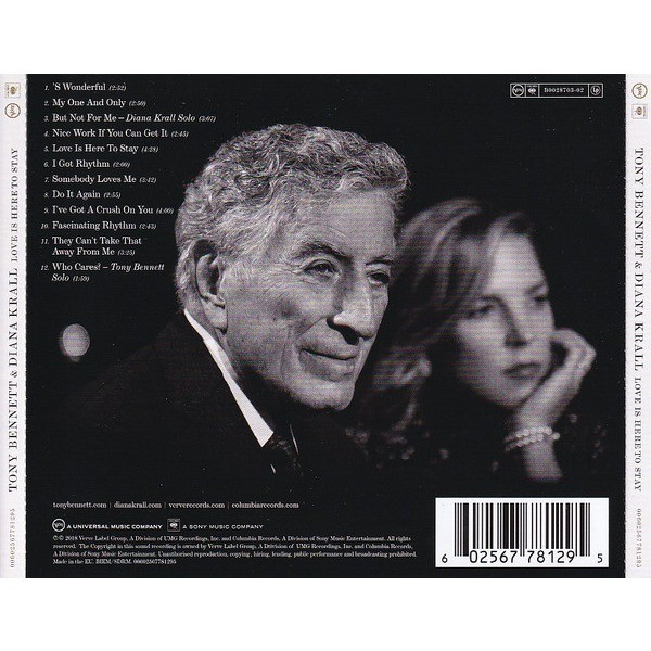 BENNETT, TONY & DIANA KRALL LOVE IS HERE TO STAY with the Bill Charlap Trio