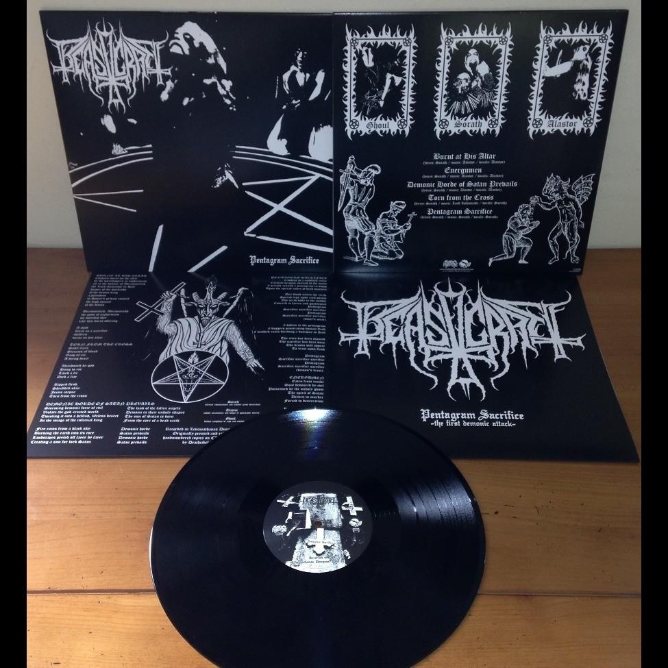 BEASTCRAFT Pentagram Sacrifice. Black Vinyl