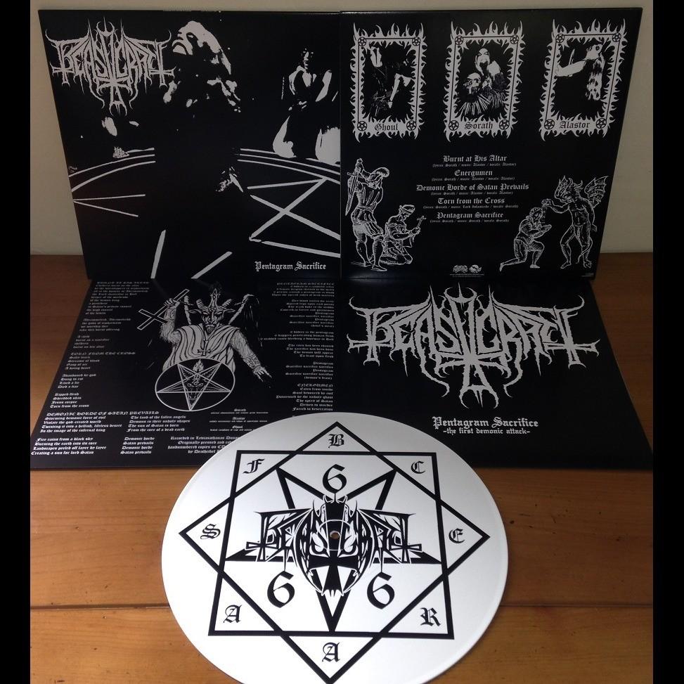 BEASTCRAFT Pentagram Sacrifice. White Vinyl