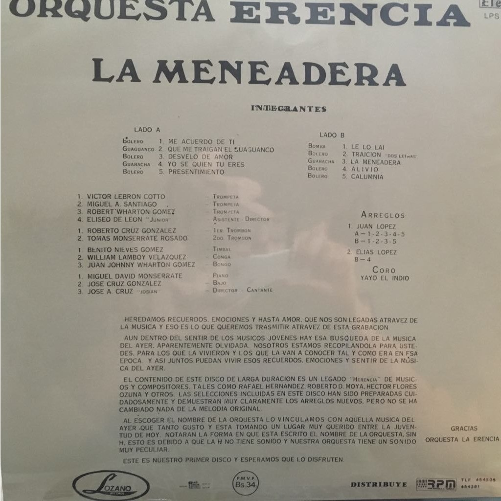 Orquesta Erencia La Meneadera