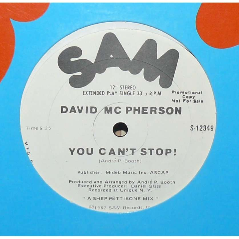 david mc pherson you can't stop
