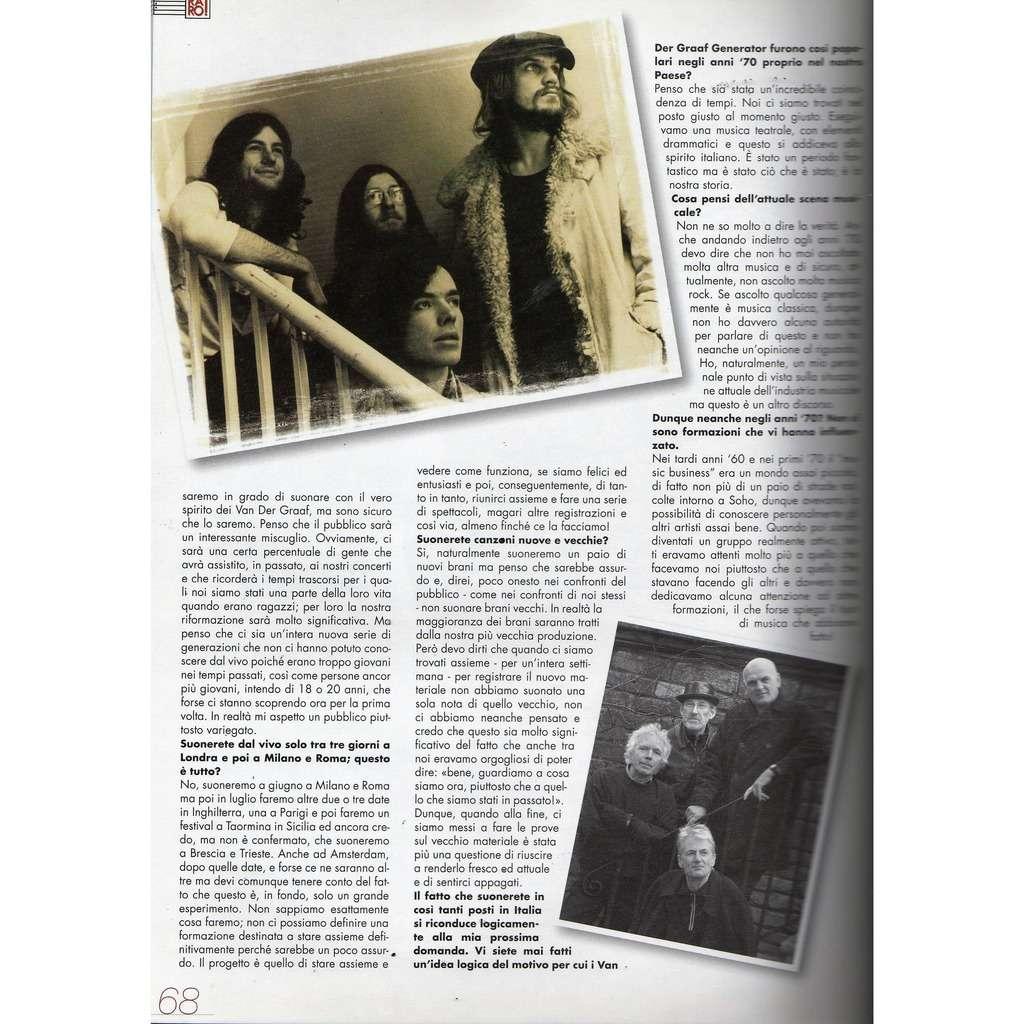Van Der Graaf Generator RARO! (N.167 June 2005) (Italian 2005 music collector's magazine!!)